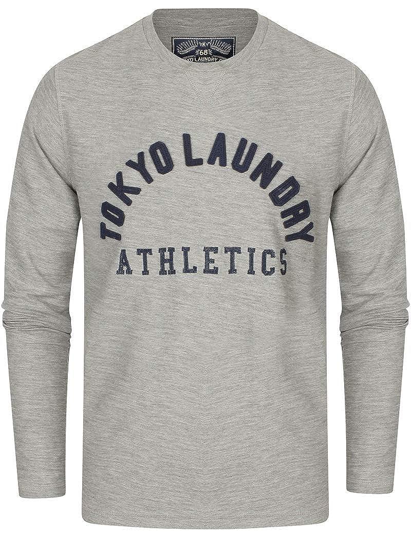 Tokyo Laundry Mens Long Sleeve Applique Logo T-Shirt