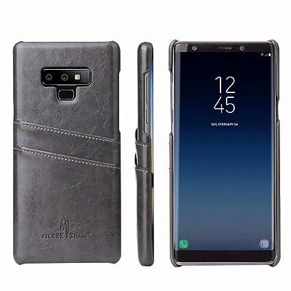 Amazon.com: Galaxy Note 9 Funda, Lujoso Slim Aceite Cera ...