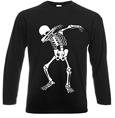 360bf1c49 Trend Gear Skeleton Dab Long Sleeve T-Shirt/Skull/Scary/Gift/Kids /Fancy/Funny/Fortnite/Xmas Black: Amazon.co.uk: Clothing