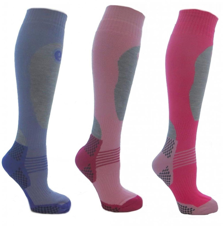 3 Paar Mädchen-High Performance Ski Socken verschiedenen Größen erhältlich