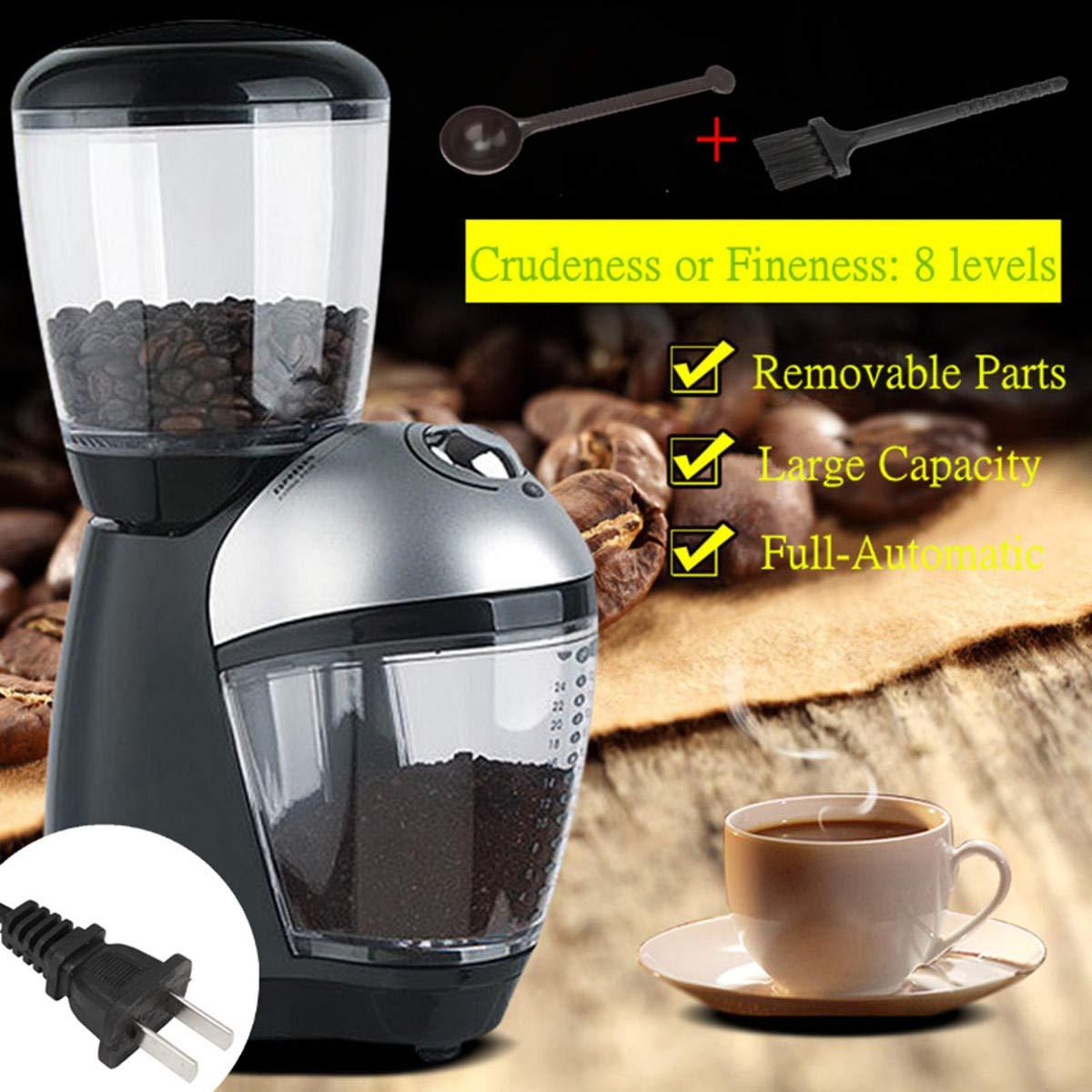Coffee Bean Grinder - Coffee Grinder Electric - 220-240V 50/60Hz Electric Automatic Coffee Bean Mill Grinder Machine Kitchen US Plug (Coffee Maker Grinder)
