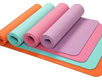 OYOGA Non Slip 6mm Yoga Mat TPE Thick 1/4-inch Grip Pilates Exercise Mats 72-Inch with Travel Bag