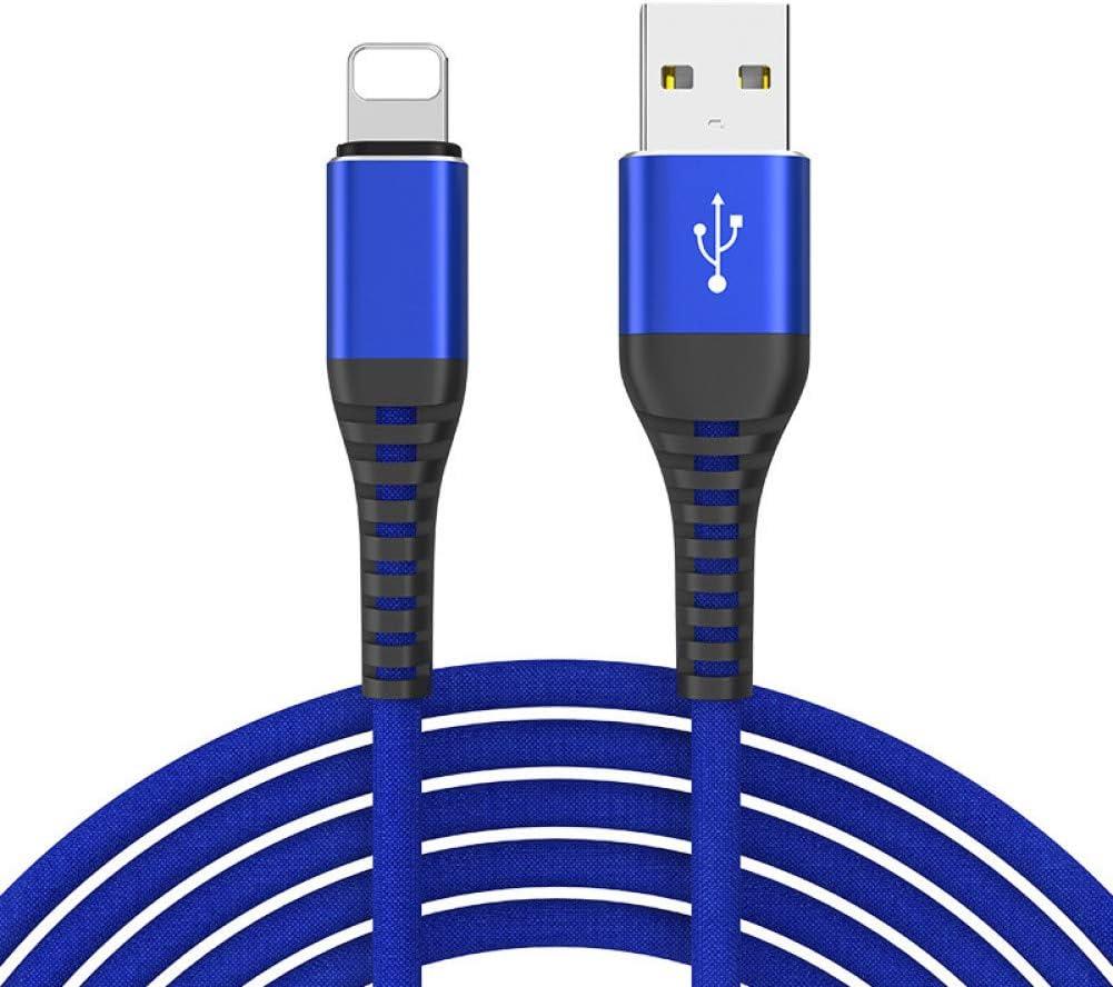 TOUSHI Cavi per Trasmissione Dati Cavo USB per Telefono 3.1A per iPhone X 8 7 6 6S Plus 5 5S Cavo Cavo Dati ad Alta Resistenza per Ricarica Rapida Caricatore rapido per Dispositivo Apple