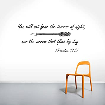 Wall Decals Quotes Psalm Quote Bible Verse Vinyl Sticker Wall - Wall decals quotes bible