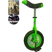 Monocycle Dodo 12 pouces (30cm) VERT pour les enfants à partir de 4 ans + DVD offert