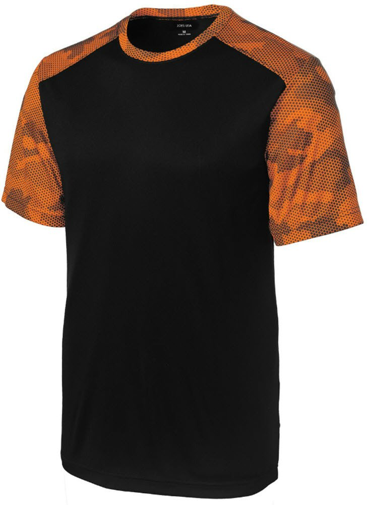 Joe's USA(tm Youth CamoHex Athletic Shirt-Orange-L by Joe's USA
