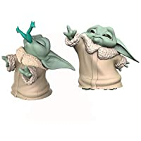 """Star Wars The Bounty Collection The Child Collectible Toys 2.2-Inch The Mandalorian """"Baby Yoda"""" Froggy Snack, Force…"""