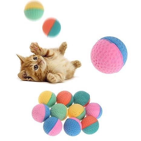 10 unidades Pet juguete látex pelotas multicolores kauen para perros gatos Cachorros Gatitos suave elástica