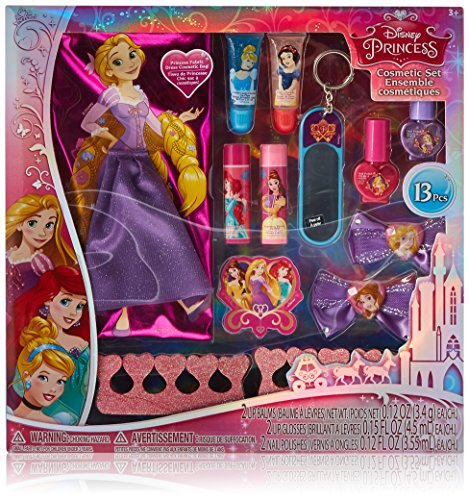 Princess Makeup Disney (Disney Princess Townleygirl 13 Piece Cosmetic Beauty Set)