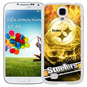 Beautiful And Unique Designed Case For Samsung Galaxy S4 I9500 i337 M919 i545 r970 l720 With Pittsburgh Steelers 19 White Phone Case