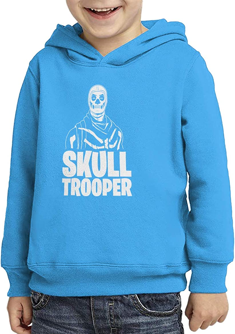 Skull Trooper Youth Turquoise, Small Video Game Just Build Toddler//Youth Fleece Hoodie