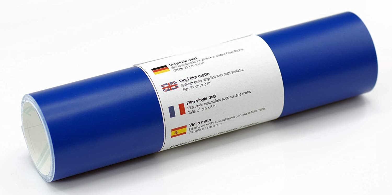 Lámina de tatuaje de pared mate 21 cm x 3 m - elección de colores, Color:Azul: Amazon.es: Hogar