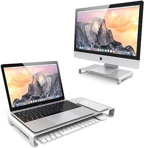WULAU Soporte Monitor, Soporte de Aluminio para Laptop Bandeja ...