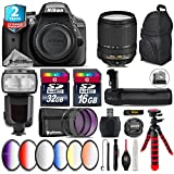 Holiday Saving Bundle for D3300 DSLR Camera + 18-140mm VR Lens + Flash with LCD Display + Battery Grip + 6PC Graduated Color Filer Set + 2yr Extended Warranty + 32GB Class 10 - International Version