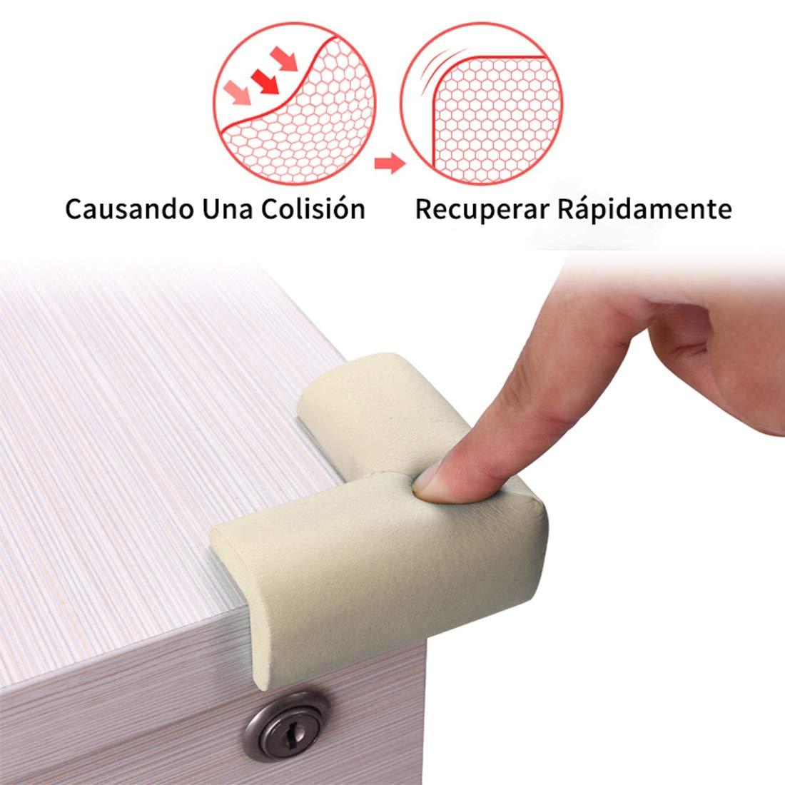 Protectores de Esquinas para Beb/és y Ni/ños Bverionant 8 Piezas Protectores de Seguridad para Mesas Muebles Esquina de NBR Cojines Protectores Esquineras Anti-colisi/ón