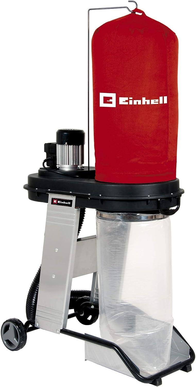 Einhell Aspirador TE-VE 550/1 A (550 W, enchufe Automático 2500 W, manguera de aspiración de 250 cm y Ø 100 mm, 2 adaptadores de aspiración 36 mm, Liberación Rápida para Bolsa de