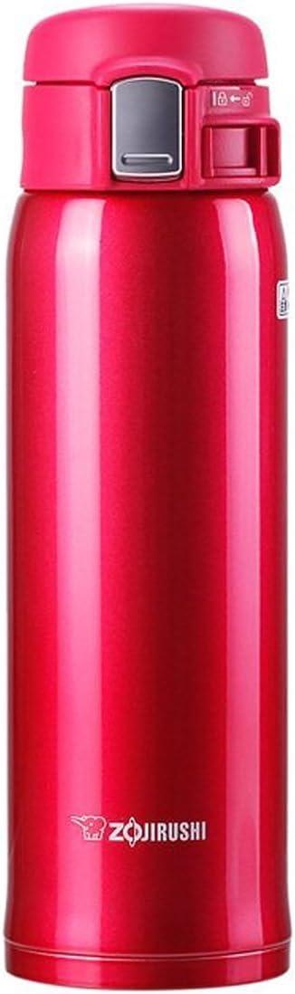 Zojirushi SM-SA48-RW Stainless Steel Mug, 16-Ounce, Clear Red