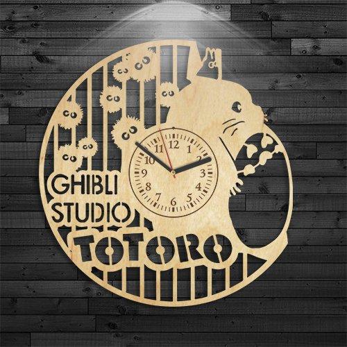 otoro Wooden Clock, Studio Ghibli Wood Clock, Totoro Clock, TWall Clock Modern, Wall Clock Vintage, Totoro Gift For Boy, Cartoon Wooden Clock, Disney Birthday Gift, Studio Ghibli Gift For Kids For Sale