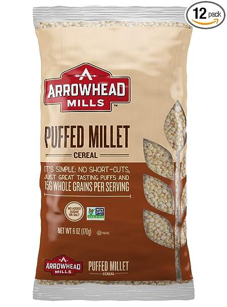 ARROWHEAD Mills Cereales, pastel de Millet, 6 onzas (Paquete ...