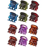 CCINEE Mini Plastic Hair Clips,Small Catch Clips Used for Hair Decoration-12Pieces (Color 1)