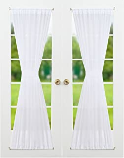 Charmant RHF Voile French Door Curtains Set Of 2 Panels, 40W By 72L Inches,