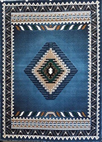Southwest Indian Rugs - Southwest Native American Area Rug Blue Green Design D143 (8 Feet X10 Feet )