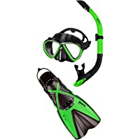 Mares Bonito X One Snorkelling Set, Medium/Large, Lime Black