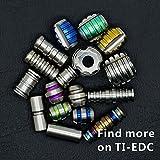 TI-EDC 5PCS Titanium 11mm Knife/Zipper Pull Jewelry Paracord/Lanyard Beads