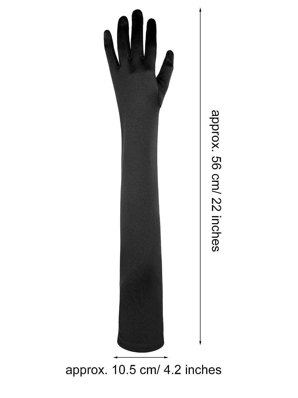 Style 11 Sumind 1920s Opera Gloves Fingerless Gloves Long Satin Gloves Elbow Length