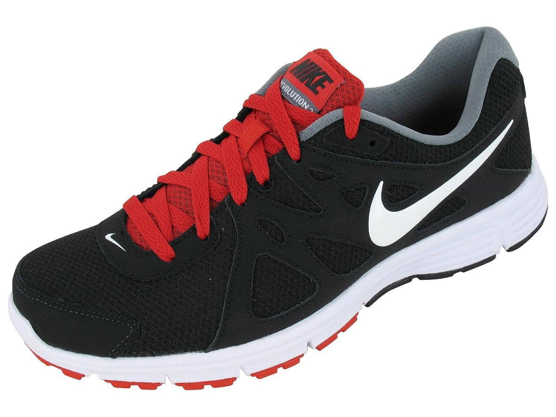 Amazon.com | Mens Nike Revolution 2 Running Shoe Black/Varsity Red/Cool  Grey/White Size 7.5 | Road Running