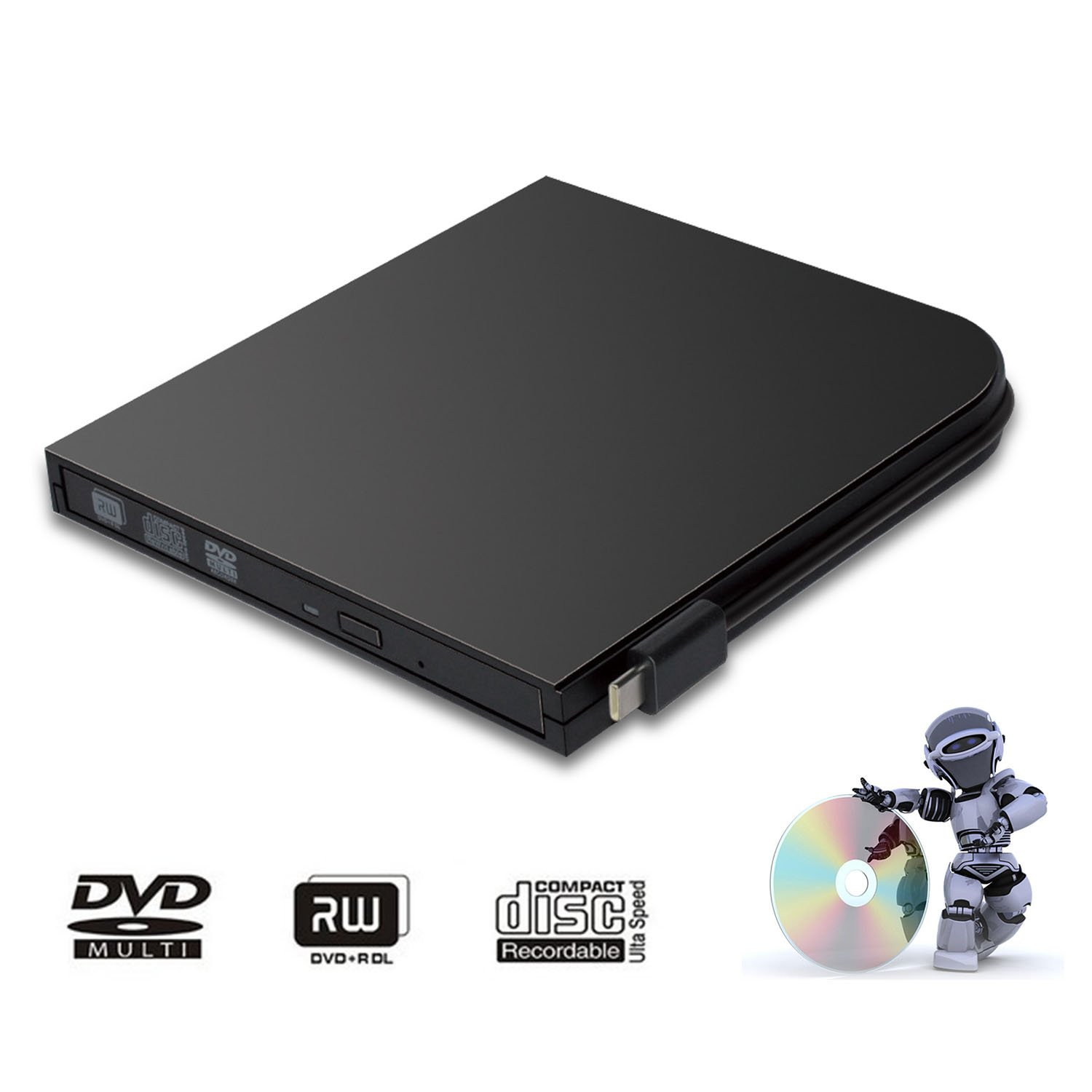 DVD Drive for PC DVD Drive computer CD Drive external dvd-rom player type-c external CD+/-RW buener USB portable DVD/CD ROM reader for various brands of desktops and laptops(not including tablets)