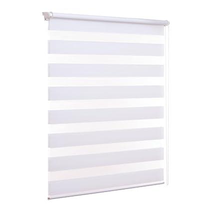 Bevorzugt Amazon.de: Doppelrollo ohne Bohren Klemmfix Weiß Fenster Duo Rollo XX97