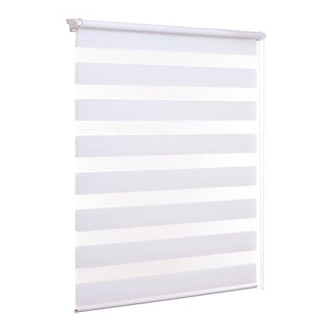 Veröffentlichungsdatum: verschiedene Farben erstklassige Qualität Ventanara Doppelrollo ohne Bohren Klemmfix Weiß Fenster Duo Rollo verspannt  inklusive Klemmträger 40 x 150 cm