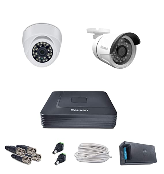 iBall CCTV FULL HD 920P 1.3 MP HD 2 Cameras with 4 Channel HD DVR - Kit Includes Bullet Cameras at amazon