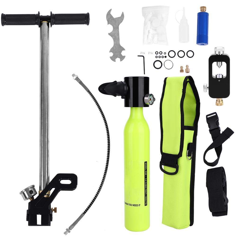 Diving Oxygen Cylinder, Scuba Tank Refill Adapter with High Pressure Air Pump Install Fittings for Diving Breathe Underwater Set