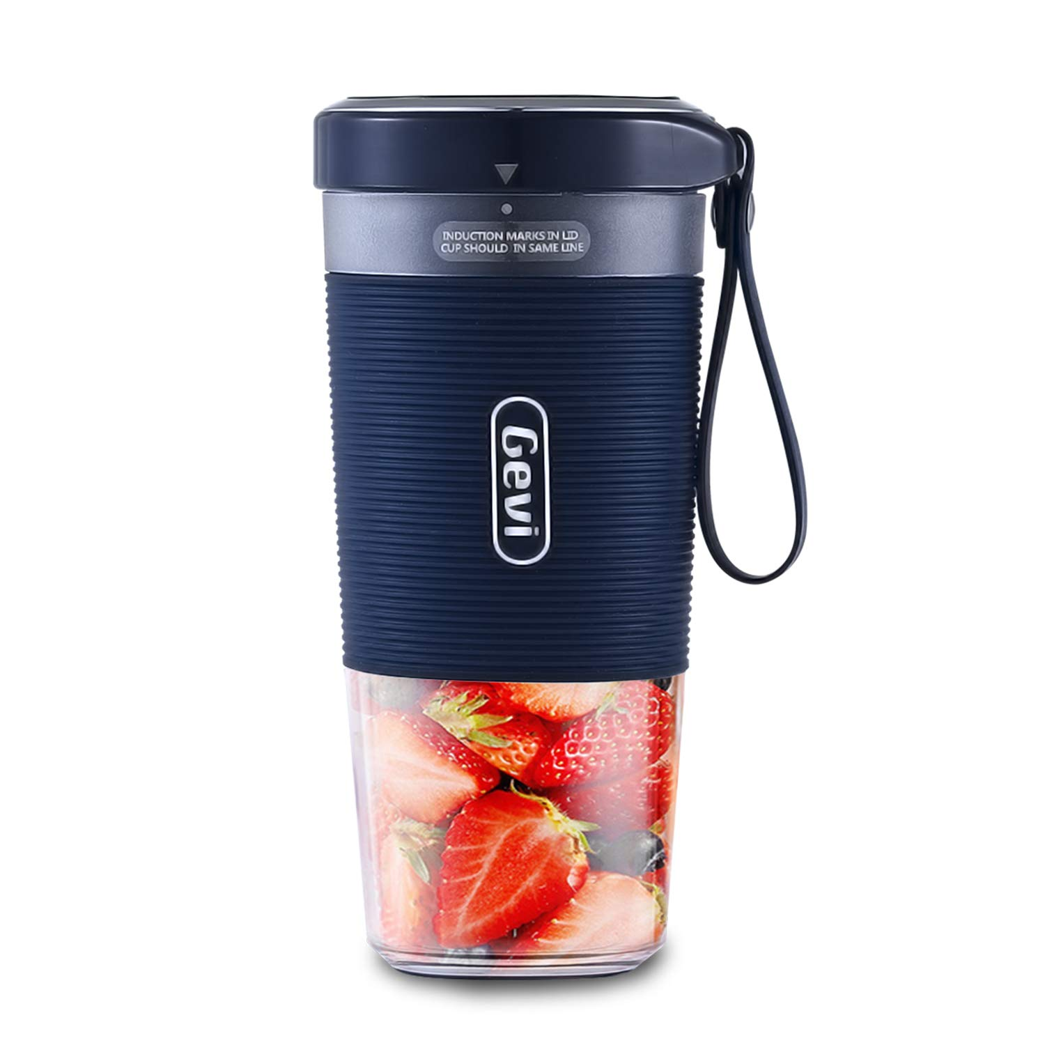 Portable Blender, Cordless Personal Blender Juicer,Small Smoothie Blender USB Fruit Juicer Mixer,300ml, BPA Free,Home/Outdoor/Office by Barsetto