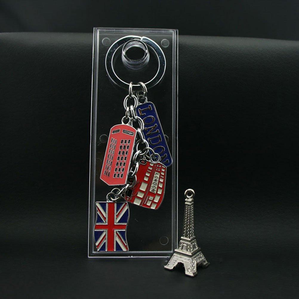 LUOEM UK Drapeau M/étal Keychain Souvenir Porte-cl/és Union Jack Porte-cl/és De Voiture Porte-cl/és Sac Charmes