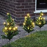 Premier Pre-Lit Christmas Tree Pathway Lights, 6 Pack, Gree