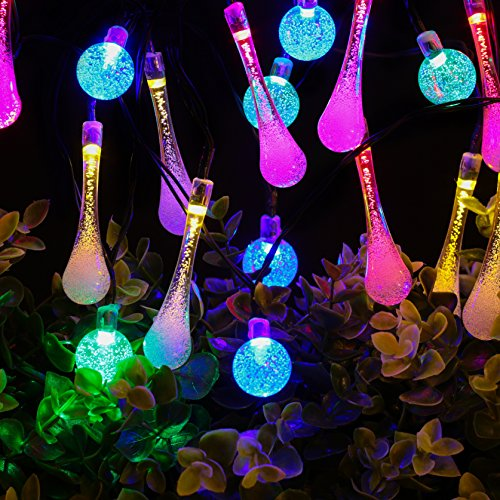 outlet Solar String Lights By Zeso 20ft 30 LED 15 Water Drop & 15 ...