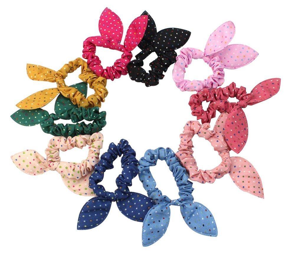 Naisecore Rabbit Ear Hair Tie Bands stile coda di cavallo