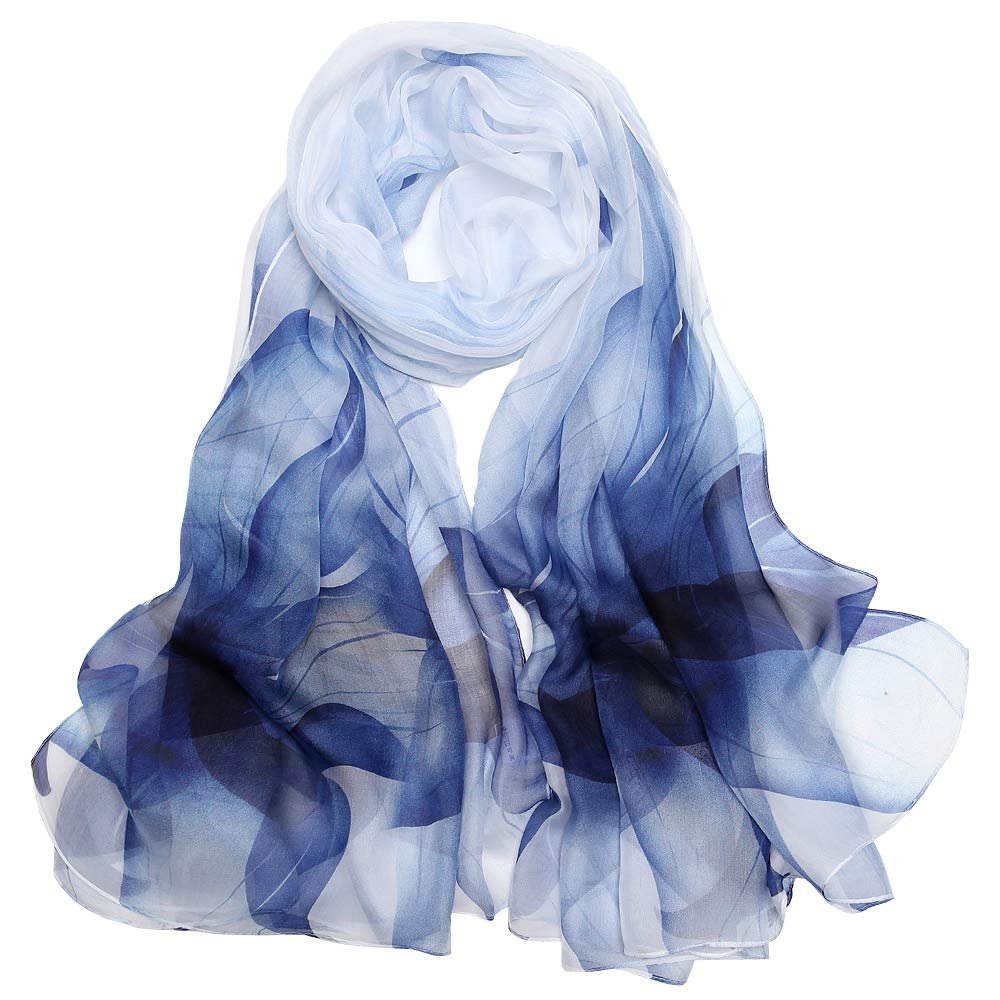 Seidenschals Damen 100% Seiden Schal Elegante Seidentuch Hohe Qualität Hautfreundlich Anti-Allergie Halstuch Tuch