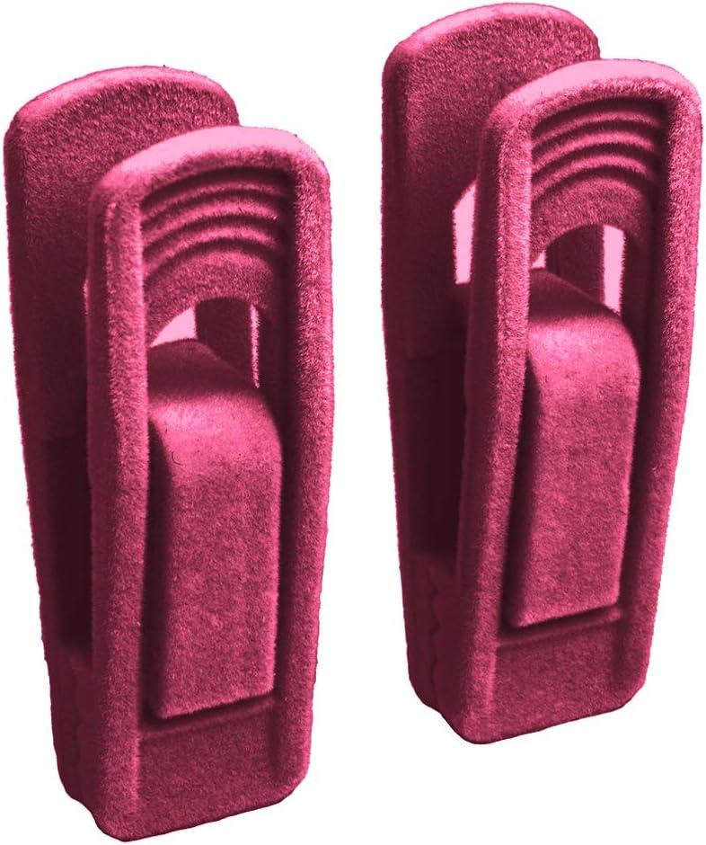 antiscivolo Non null Set di 20 mollette per vestiti antivento colore nero utili ganci in velluto artificiale floccato per asciugamani ecologici e durevoli Beige Taglia libera Sdkmah9