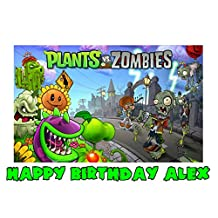 Plants Vs Zombies Edible Image Photo Sugar Frosting Icing Cake Topper Sheet Personalized Custom Customized Birthday Party - 1/4 Sheet - 76567 by Sweet Custom Cakes