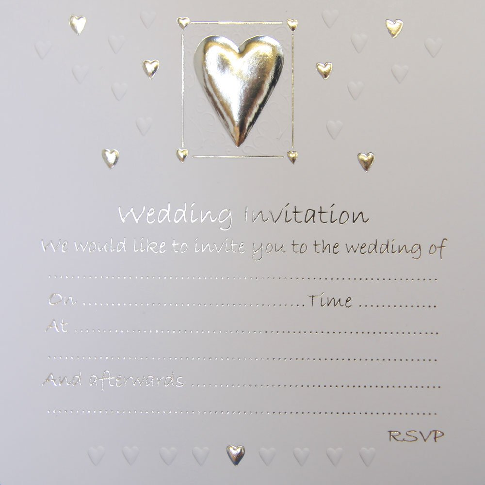 Jean Barrington Wedding Invitations - Silver Heart: Amazon.co.uk ...