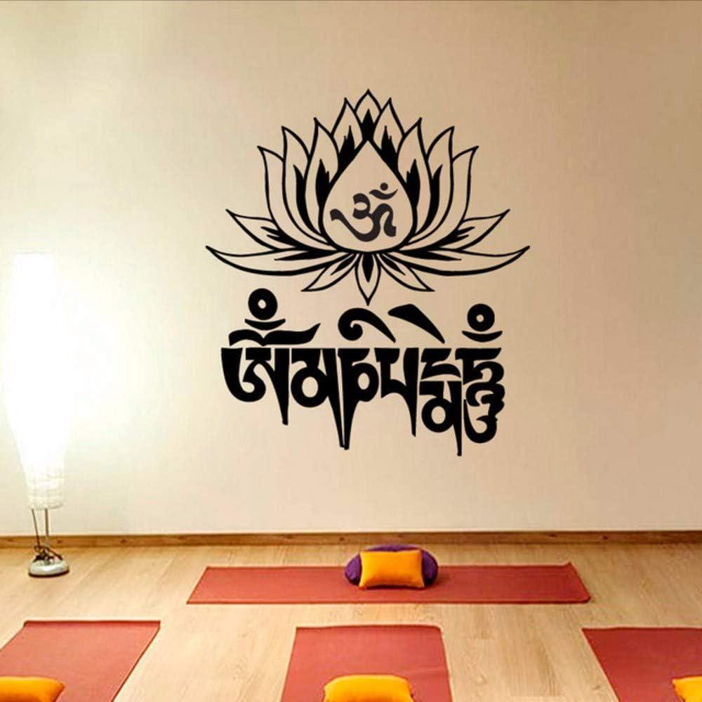 Waofe Yoga Mantra Om Mani Padme Hum Lotus Etiqueta De La Pared ...