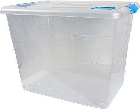 XXL de almacenamiento caja de almacenamiento caja de cajas de almacenaje con tapa 80 L 46