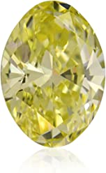 4.06 Carat Fancy Yellow Loose Diamond Natural Color Oval Shape GIA Certified