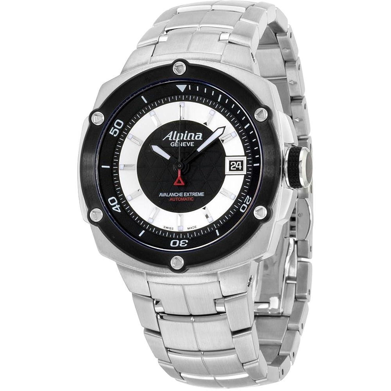Alpina Avalanche Extremeブラックダイヤルステンレススチールメンズ腕時計al525lbs3ae6b B01N9QEXVY