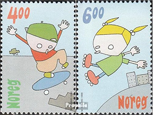 Norway 1329-1330 (Complete.Issue.) 1999 Kids Games (Stamps for Collectors) Comics