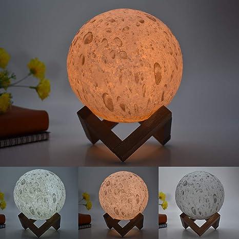 Lámpara de mesa creativa Modelos de explosión Moonlight ...